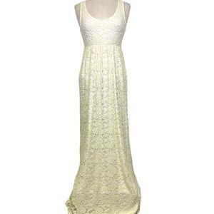 COCO Ivory Lace Maxi Tank Dress